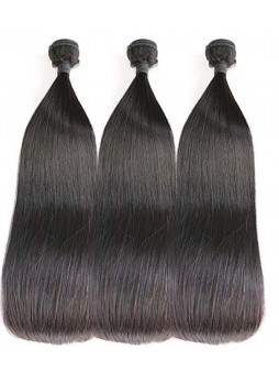 Makeupsbuy Double Drawn Silky Straight Hair Weave Bundles Thick and Full 100% Unprocessed Virgin Human Hair Extensions
