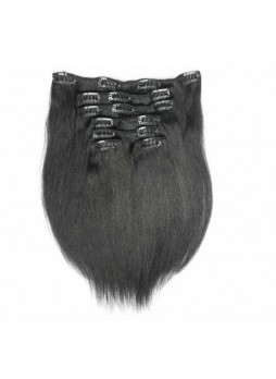 Makeupsbuy Customized Double Drawn Straight 120g Natural Color Black  Clip In Virgin Hair Extension
