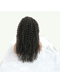 Makeupsbuy 13x6 Kinky Curl 200% HD Lace Wig Transparent Undetectable Invisible Human Hair Pre Plucked Wig For Black Women
