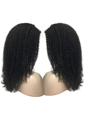 Makeupsbuy Kinky Curl 13x4  200% HD Lace Transparent Undetectable Invisible Human Hair Pre Plucked Wig For Black Women