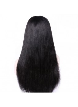 Makeupsbuy 150% Customized 12A natural Color  Brazilian Remy Hair Glueless Lace Front Wigs With Baby Hair Pre-plucked